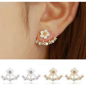Brinco Feminino Ear Jacket Ear Cuff Formato Flor