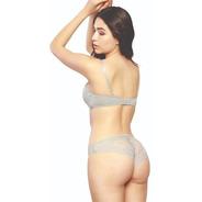 Conjunto De Bra Strapless Y Bikini De Encaje C23459-73459