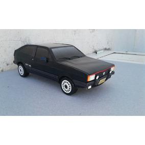 Miniatura De Papel Volkswagen Gol Gt 1986 1/18 (preto)