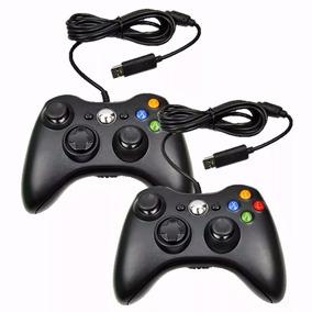 Kit 2 Controle Xbox 360 Computador Pc Com Fio Joystick