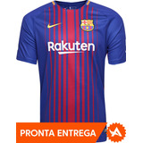 Camisa Nike Oficial Barcelona Home 2017 2018 Neymar Messi