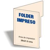 Carpetas, Folder Personalizadas A Todo Color