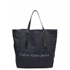 Bolsa Sacola Calvin Klein Jeans Grande Azul