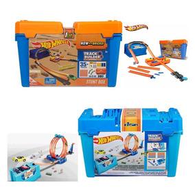 Kit C/ 2 Balde Hot Wheels Loop E Track Builder 35 Pçs Mattel