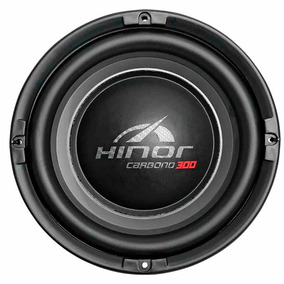 Subwoofer Hinor Carbono 8 Pol 150w Rms 4 Ohms Som Carro