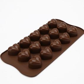 Forma De Silicone Coração Bombons Chocolate Sabonete