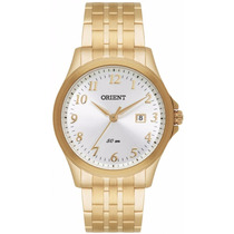 Relógio Orient Mostrador Com Números Dourado Masc. Mgss1081