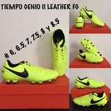 Tacos Nike Futbol Tiempo Genio Fg # 6 6.5 7.5 8 Mx Envio Gra