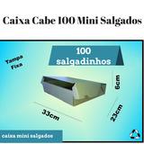Caixa Papelao Branca Salgados Doces Cabe 100 Mini Salgados