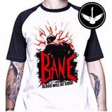 Camiseta Raglan Bane Vilão Batman Filme Desenho