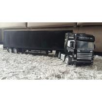 Caminhão De Controle Remoto Scania Carreta Baú Frete Grátis