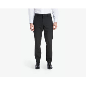 Pantalón De Vestir Wallstreet Negro Pr-1811432