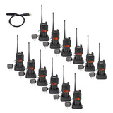 12 X 2 Vías Doble Banda 3/5/1w 128ch Radio + Cable De