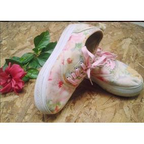 Zapatos De Flores Suela Alta Para Dama Talla 37