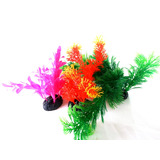 Plantas Artificiais P/ Aquario Kit Decorativo 3 Itens