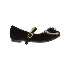 Zapatos De Fiesta Para Niña Nobuck Negro Marca Efectos