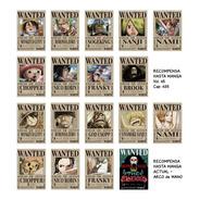Imanes Wanted Mugiwara X 18 One Piece - Animeras