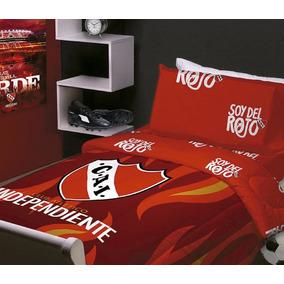 Sabana Infantil Independiente Oficial Casablanca 1 1/2 Plaza
