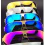 Kit 6 Óculos Sol Espelhados Cores Sem Marca Atacado Revenda
