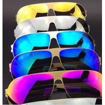 Kit 6 Oculos Sol Espelhados Cores Sem Marca Atacado Revenda