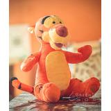 Tigrão Pelúcia Ursinho Pooh Leitão Disney 42 Cm