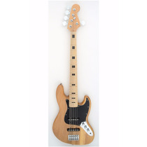 Baixo Custom Jazz Bass 5 Cordas Maple Natural Vintage 28nt