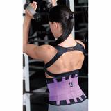 Faja Cinturilla Tecnomed Belt Fitness Colombiana Lila
