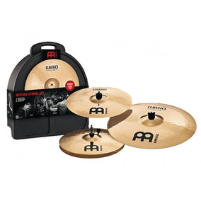 Set De Pratos Meinl Cc-141620m Classic Custon Kit + Case