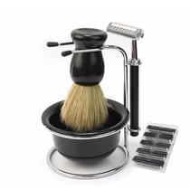 Kit De Afeitado Barba Barbero Jabón Gratis Repuestos Gratis