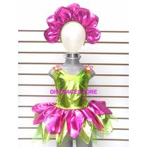 Disfraz De Flor Tutu Mallas Diadema Disfraces De Flores Niña