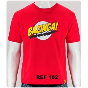 Camiseta Bazinga Sheldon Cooper Camisa 100% Algodão