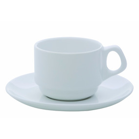 Xicara De Café Porcelana C/pires 75ml Linha Hotel Restaurant