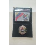 Porta Credencial De Bolsillo Com Escudo De Venezuela