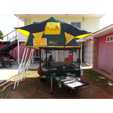 Trailer De Camping Con Carpa Tanque Planta 10000w Aire Acon