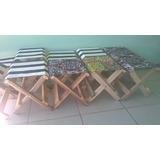 Kit 4 Unidades Cadeira Banqueta Banquinho Compacto