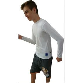 Camiseta Com Proteção Solar Uva Uvb 50+ Dry Fps Manga Longa
