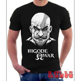 Camisas Camisetas Bigode God Of War Deus Guerra