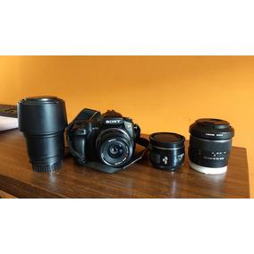 Camera Sony Alpha A350 Em Perfeito Estado