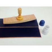 Sello Personalizado 20x10 Cm Estampa Bolsa Papel Tela Cartón