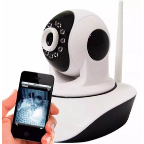 Câmera Ip Hd 720 Sem Fio Wifi Antena Cartão Sd Infinita P2p