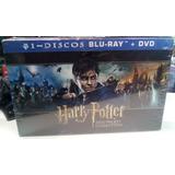 Box Blu-ray + Dvd Harry Potter Hogwarts Col. 31 Discos C/ Nf