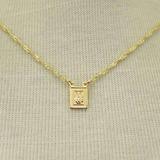 Correntinha Dourada Com Pingentes - Cor1060