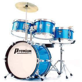 Bateria Infantil Premium Dx30j - Acústica, Cor Azul, Bumbo