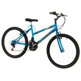 Bicicleta Feminina Ultra Aro 24 Freio V-break Chrome Line