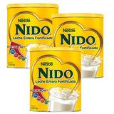 3 Latas Leche Entera Nido ® Fortificada A Partir De 5 A...