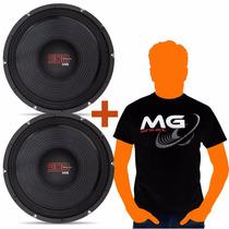Par Woofer Shutt Mg 10 Polegadas 500w Rms 4 Ohms + Camiseta