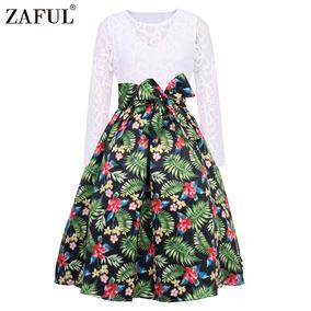 Zaful Vestido Vintage De La Serie Mujer Floral Pi¿a De Mang