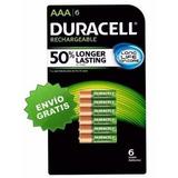 6 Baterias Recargables Duracell Aaa 850 Mah Envío Gratis