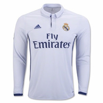 Jersey Playera Real Madrid Manga Larga 2017 Original 100%