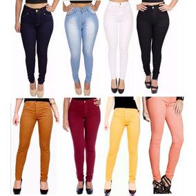 Calça Feminina Jeans Colorida - Do 36 Ao 42 - Promoção 2017